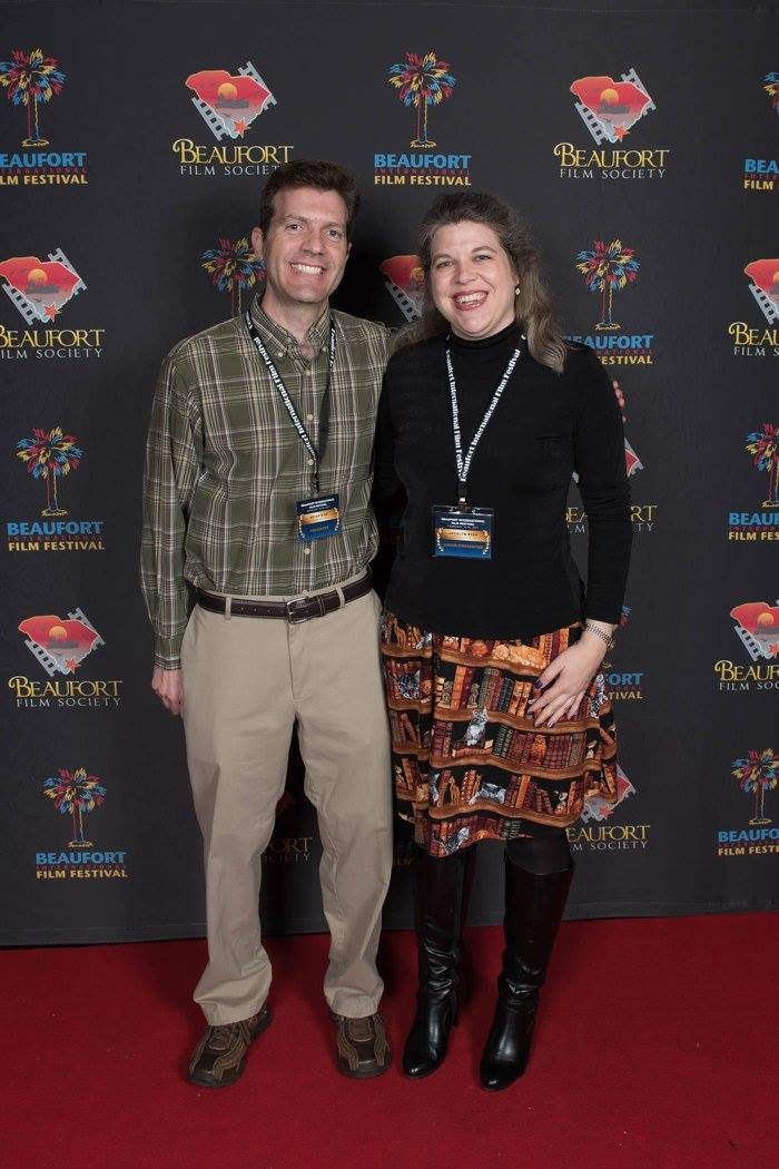Brian and Jocelyn at BIFF opening ceremony