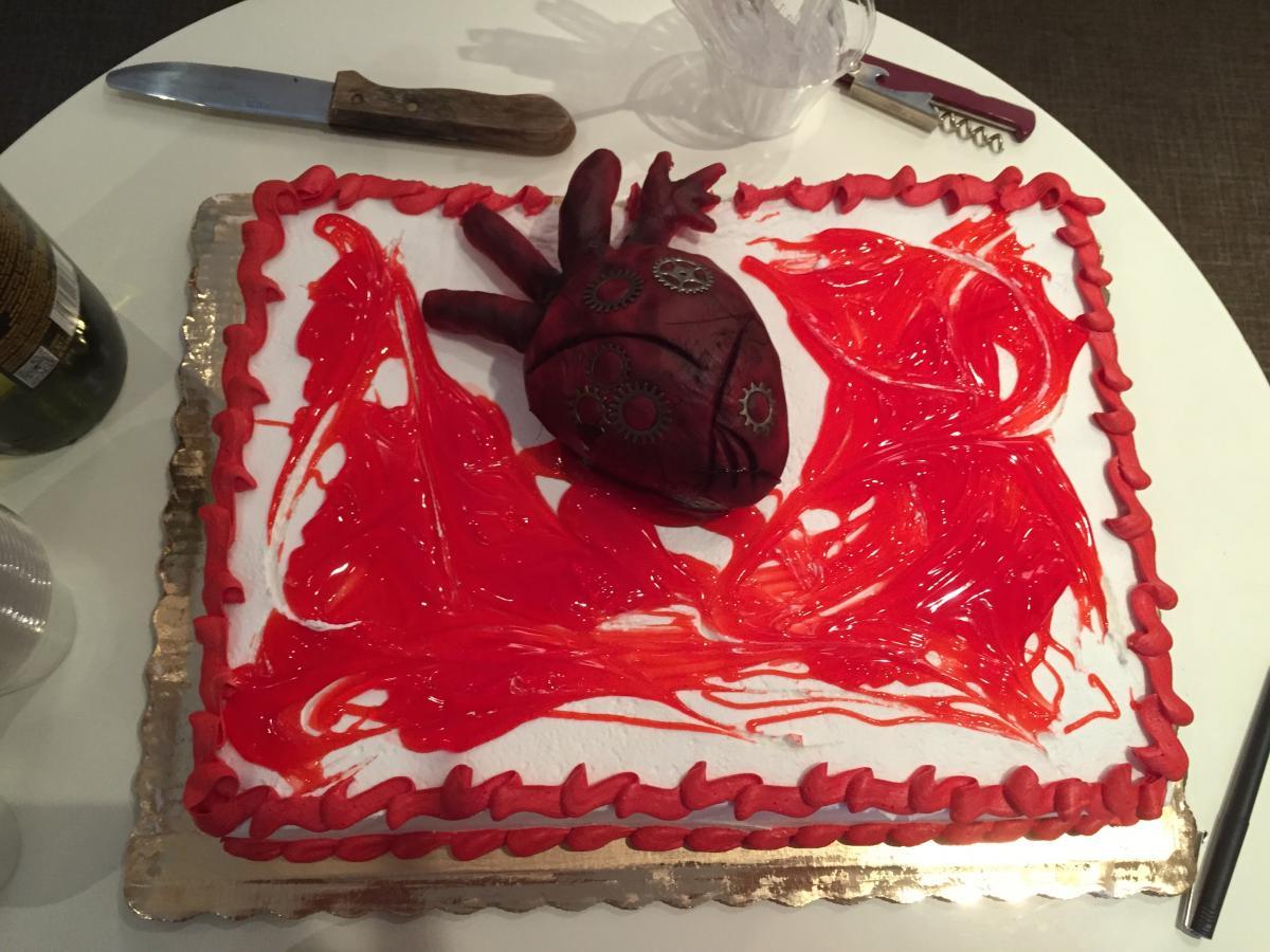 Leah's Heartless cake