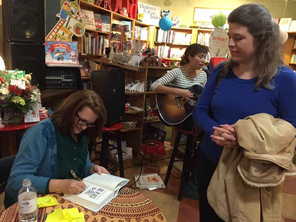Jaye Robin Brown signing book for Jocelyn Rish