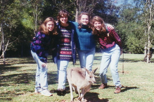 Four Duke Girls with Kangaroo