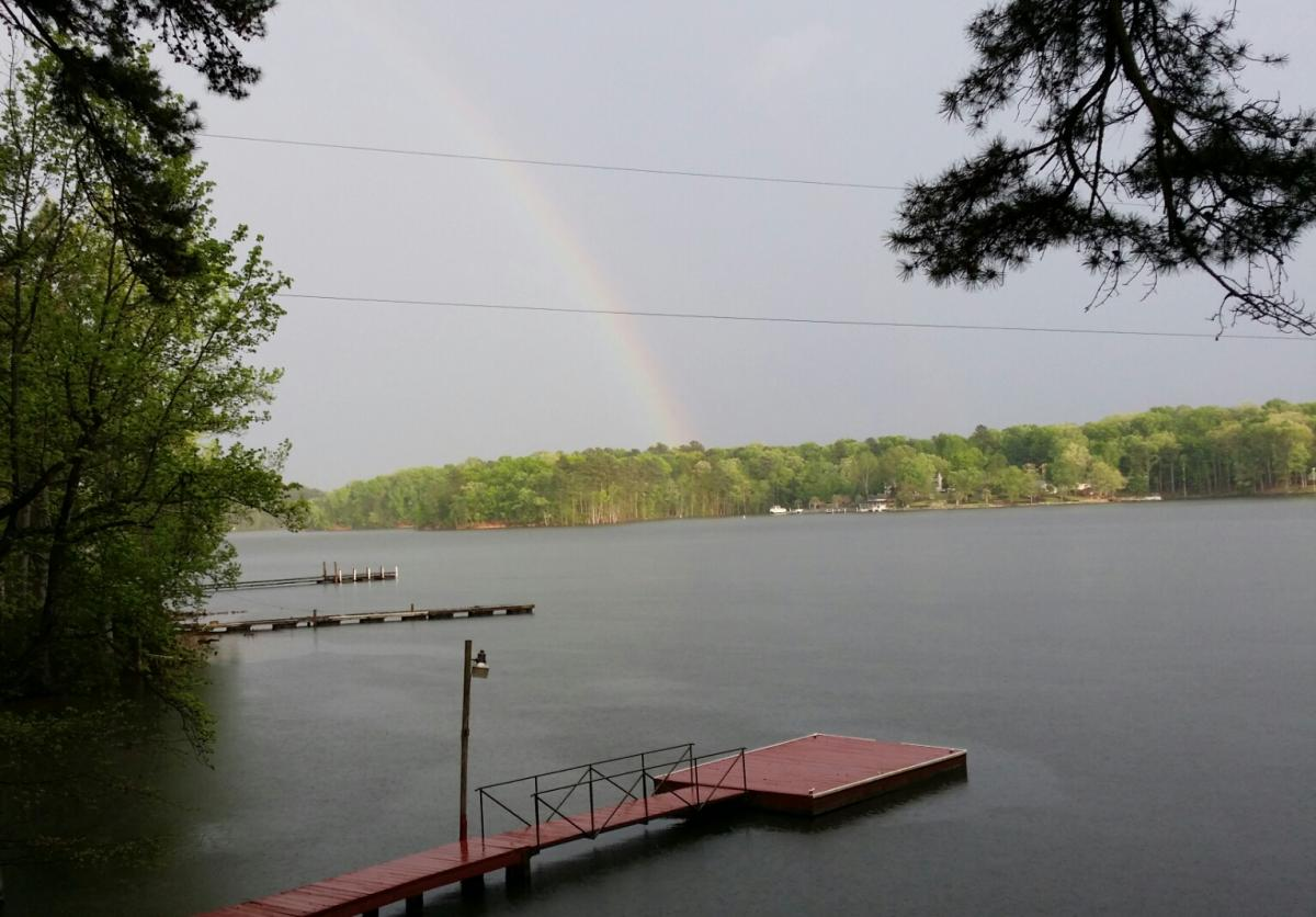 Rainbow at Lake Retreat